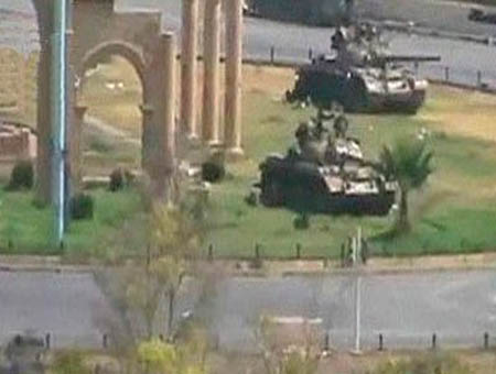 Tanques sirios hama siria
