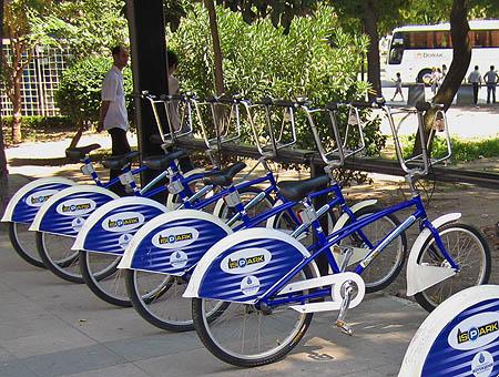 Las bicicletas son para Sultanahmet
