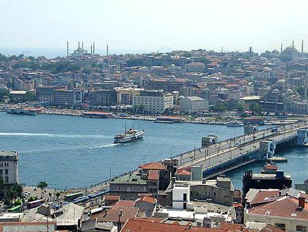 Vista de Estambul y el Cuerno de Oro desde la Torre Gálata