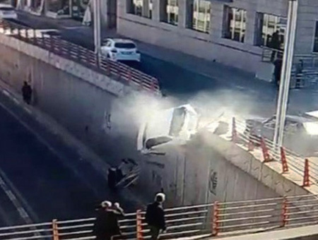 Diyarbakir accidente coche puente