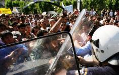 PROTESTAS DE INMIGRANTES MUSULMANES EN GRECIA