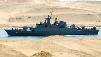 Barco guerra iran canal suez
