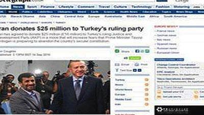 Daily telegrahp erdogan iran