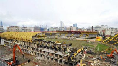 Demolicion estadio ali sami yen galatasaray