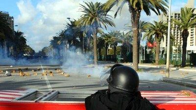Disturbios tunez