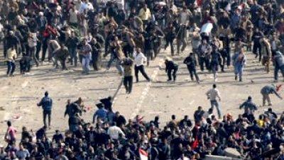 Enfrentamientos manifetantes cairo egipto