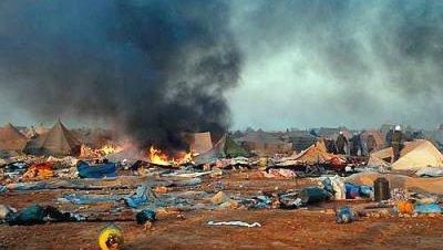 Incencio campamento saharaui al Aaiun