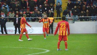 Kayserispor partido liga futbol turca