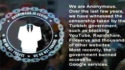 Mensaje anonymous ciberataque operationturkey