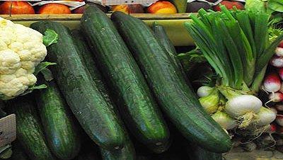 Pepinos verduras productos supermercado