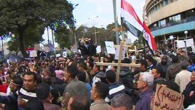 Protestas coptos cristianos cairo egipto