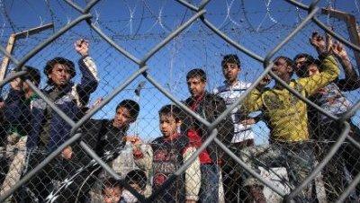 La UE critica la situación de los refugiados en Grecia