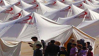 Refugiados sirios campo hatay kizilay