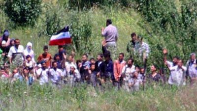 Refugiados sirios frontera turca