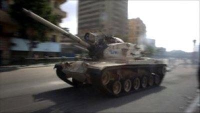 Tanques calles egipto