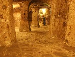 Imagen de la ciudad subterránea de Derinkuyu, en Capadocia