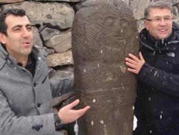 Erzurum arqueologos estela funeraria