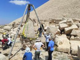 Turquia restauracion estatua monte nemrut