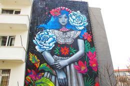 Ankara mural artista mexicana