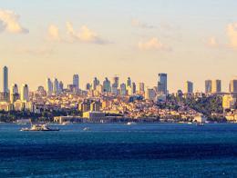 Imagen del distrito financiero de Levent, en Estambul