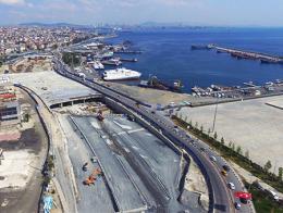 Obras de construcción del nuevo túnel en el lado europeo de Estambul