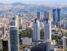 Estambul levent rascacielos edificios