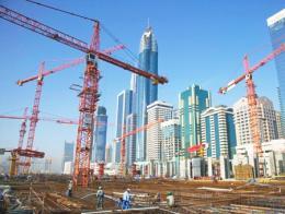 Emiratos arabes construccion dubai