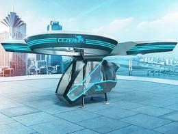 Prototipo cezeri coche volador turco