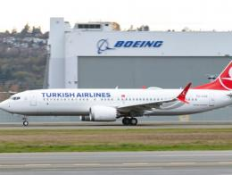 Turkish airlines avion boeing 737