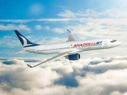 Aerolinea turca anadolujet avion