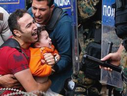 Macedonia refugiados frontera