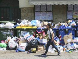Grecia huelga basuras