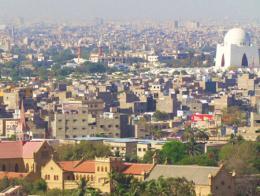 Vista de la ciudad de Karachi, corazón económico de Pakistán