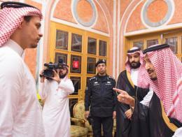 Salah Khashoggi, en el tenso encuentro organizado con el rey Salman y el príncipe Bin Salman en octubre