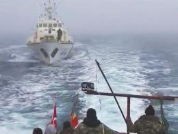 Rumania pesquero disparos guardacostas