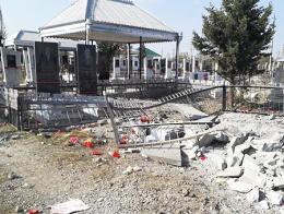 Azerbaiyan ataque armenio cementerio