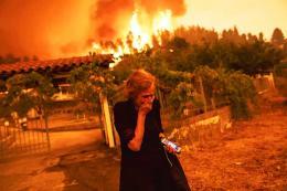 Grecia evacuacion incendios forestales