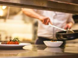 Restaurante cocina plato