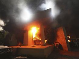 Imágenes del atentado en 2012 contra el consulado de EE.UU. en Bengasi
