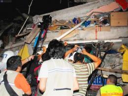 Ecuador terremoto rescate
