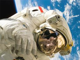 Espacio astronauta orbita