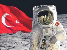 Espacio luna astronauta turco