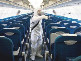 Asia desinfeccion avion coronavirus