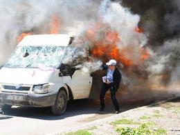Erzurum incendio minibus hdp
