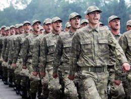 Ejercito turco reclutas soldados