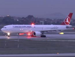 Avion turkish airlines pista