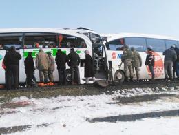 Igdir colision autobuses