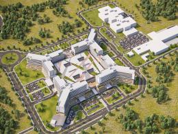 Imagen del gran hospital que está previsto que se inaugure en junio de 2019 en el distrito de Nilüfer, en Bursa