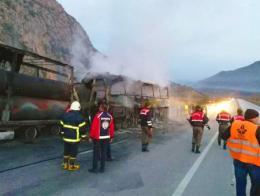 Corum accidente autobus camion