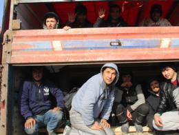 Erzincan inmigrantes ilegales camion